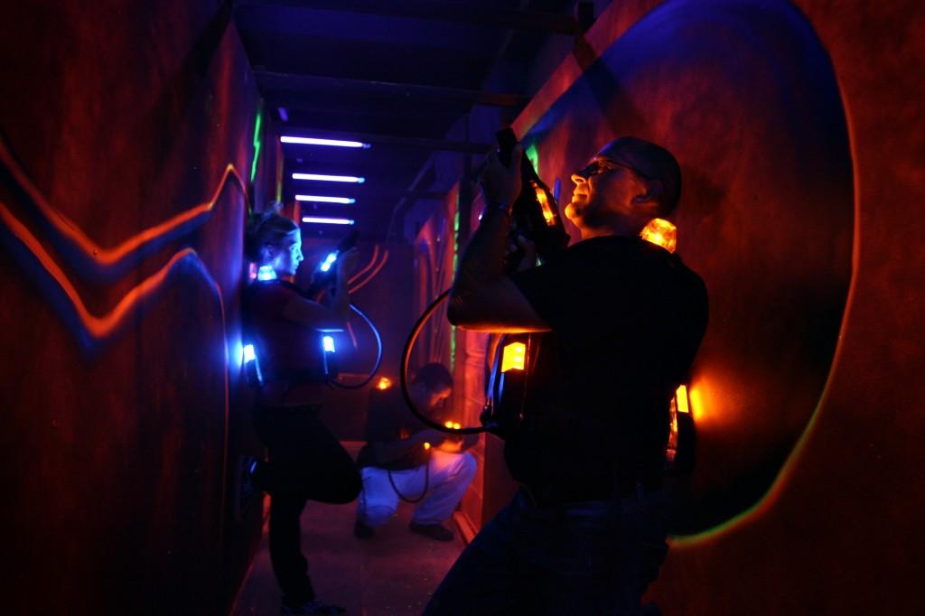 Laser tag in timpul jocului